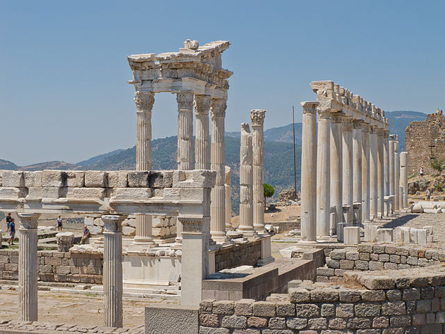 Temple of Trajan at Pergamon, Turkey.