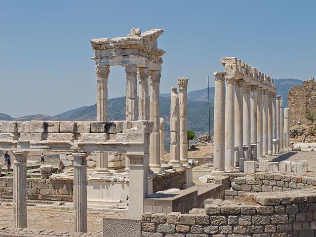 Temple of Trajan at Pergamon, Turkey.